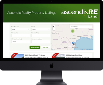 Property Listing CRM Software AscendixRE Land | Ascendix
