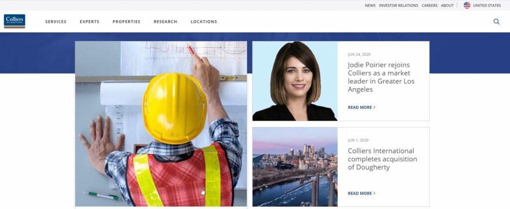 Colliers-International-Website