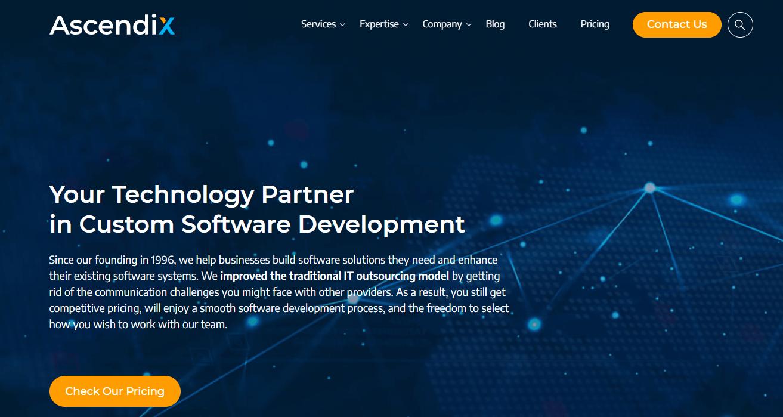 ascendixtech-custom-software-development-company-home-page