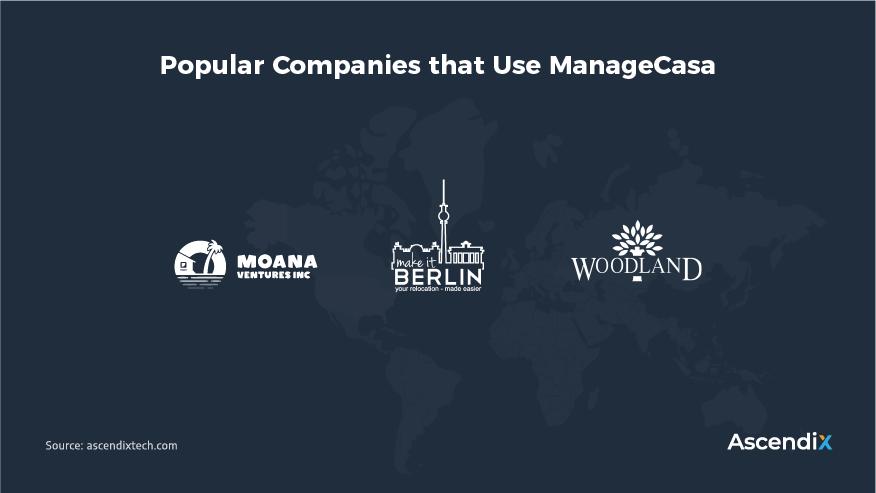 Popular Companies that Use ManageCasa   Ascendix Tech