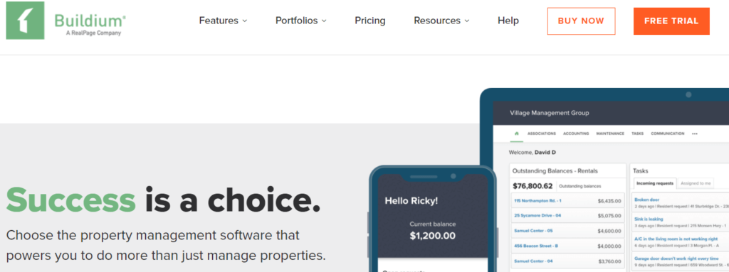 Buildium-commercial real estate property management software company