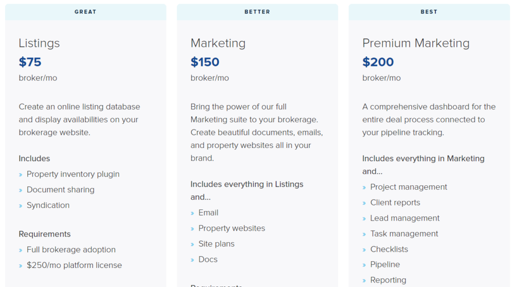 Pricing of Buildout- one of the leading commercial real estate software companies