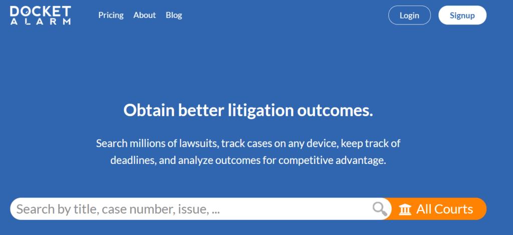 Docket Alarm Legal Tech company