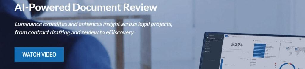 Luminance Legal Tech company